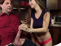 FamilyHookups- Horny Stepdaughter Offers Pater Cook jerking