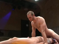 Submissive stump asslicked after wrestling