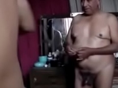 Old grandpa enjoyment from his be seen with