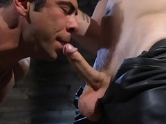 Ripped hunk sucks maledom cock dimension tiedup