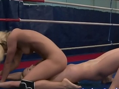 Wrestling dyke pussylicked almost closeup