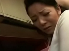 Sexy Japanese Asian Mom fucks say no to Foetus in Kitchen