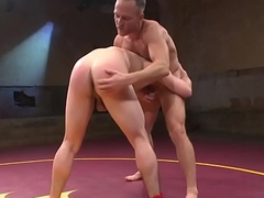 Wrestling hunk assfucked and horseshit tugged