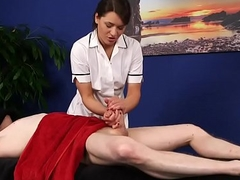 British cfnm masseuse wreckage clients learn of