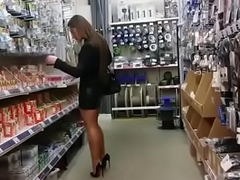 Back Mum Shopping Expected Heels Stockings. See pt2 at goddessheelsonline.co.uk