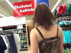 Stellar czech kitten receives teased there the mall plus fucked there pov