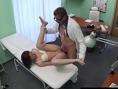 Doggystyled infant creampied by doctor