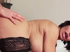 Busty stockinged stepmom doggystyled in the matter of trio