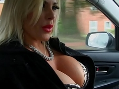 Low-spirited blonde big jugs Milf fucks Obsolete horse-drawn hackney stewardess