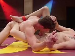 Sixpack studs engulfing dick and wrestling